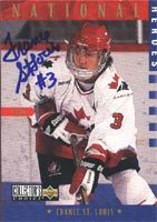 France St. Louis, Team Canada Women, 1997 Upper Deck Collectors Choice National Heroes Autographed Card