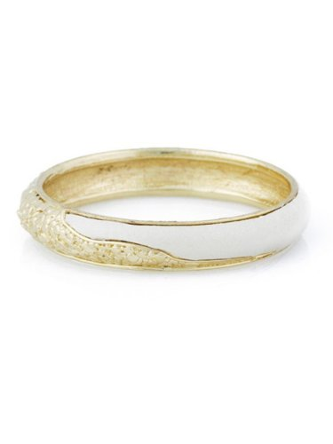 Belle Noel By Kim Kardashian Nugget and Leather Bangle - Gold/Cream