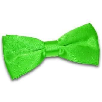 New DQT Plain Apple Green Mens Pre-Tied Bow Tie