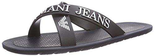 Armani Jeans0659769 - Sandali a Punta Aperta Uomo , Blu (Blau (BLU - BLUE Y5)), 42