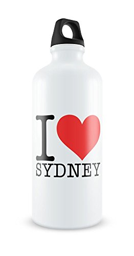 i-love-sydney-white-aluminium-water-bottle