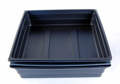 "5 Pack of Durable Black Plastic Plant Growing Trays (With NO Drain Holes) 10""x10""x2"" - Gardening: Flowers, Seedlings, Plants, Wheatgrass"