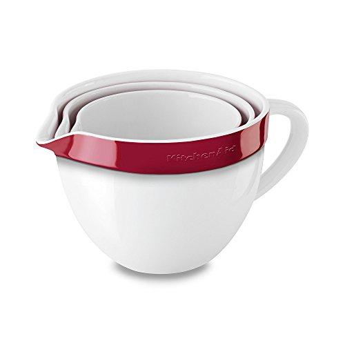 kitchenaid kblr03nber 3 piece nesting ceramic mixing bowl bakeware set empire red review. Black Bedroom Furniture Sets. Home Design Ideas