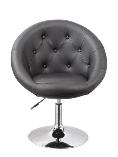 Sessel in Schwarz höhenverstellbar Kunstleder Clubsessel Coctailsessel Loungesessel fauteuil Armchair Model Nr. 0331
