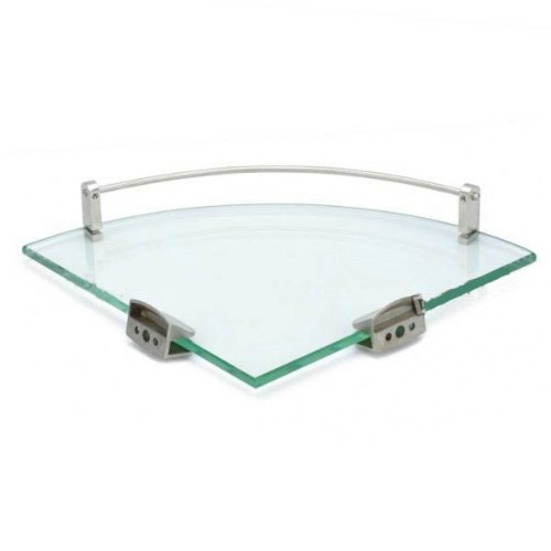 Wall mounted glass corner shelf bathroom storage brackets - Bathroom glass corner shelves shower ...