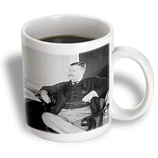 Scenes From The Past Vintage Stereoview - 1903 President Roosevelt At His Desk In White House Washington Dc - 15Oz Mug (Mug_97725_2)