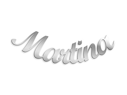 Mono orecchino con nome Martina in argento 925 rodiato anallergico. Made in Italy.