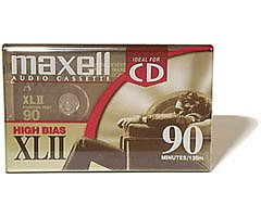 Maxell(R) Cassette Audio Tape, 90-Minute High Bias Standard, Pack Of 4 (Discontinued by Manufacturer) 0