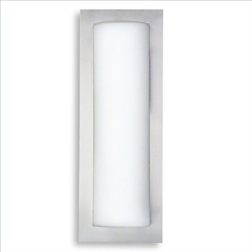 "Kovacs P563 2 Light 18.5"" Height Ada Compliant Flush Mount Wall Sconce, Brushed Steel"