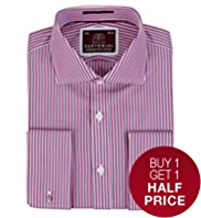 Sartorial Pure Cotton Striped Shirt