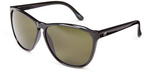 Electric Womens Encelia Es12001642 Polarized Round Sunglasses,Gloss Black,61 Mm