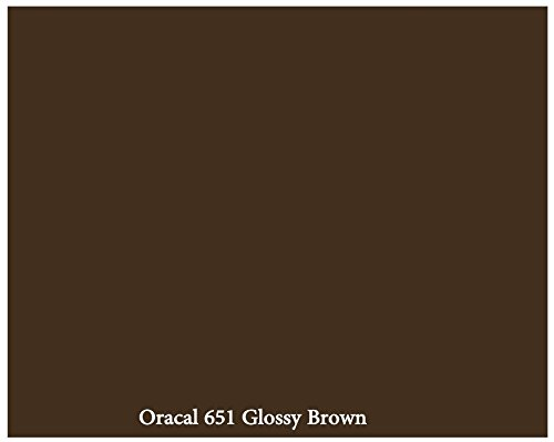 """12"""" X 10 Ft Roll Of Glossy Oracal 651 Brown Repositionable Adhesive-Backed Vinyl For Craft Cutters, Punches And Vinyl Sign Cutters By Vinylxsticker front-60841"""