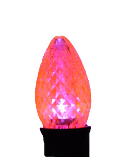 Pink Dimmable Faceted C9 Led Replacement Bulb