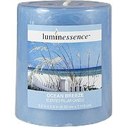 Luminessence Ocean Breeze Scented Pillar Candle