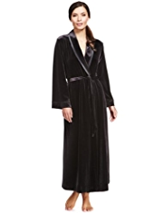 Autograph Shawl Collar Velour Wrap Dressing Gown