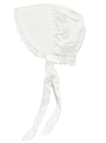 100% White Cotton Prairie Amish Bonnet Small - 1