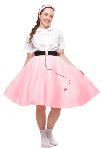 50s Felt Poodle Skirt in Retro Colors size Teen / Adult Small by Hey Viv !