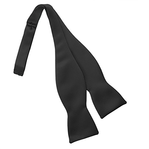 Self Tie Bow Tie (Black) (Mens Bow Ties Self Tie compare prices)