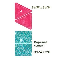 Accuquilt Go! Fabric Cutting Dies; Triangles In Square; 3-Inch Finished front-434088