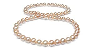 6.5x7mm Peach Freshwater cultured pearl necklace