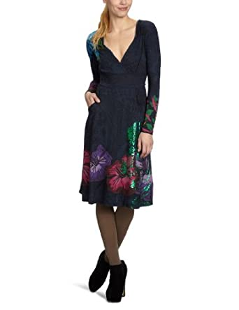 Desigual Sharon Tate Women's Dress Petroleo 10