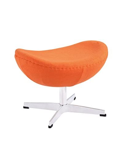 Modway Glove Ottoman, Orange Wool