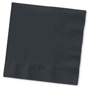 Creative Converting-Black Velvet Napkins-Dinner
