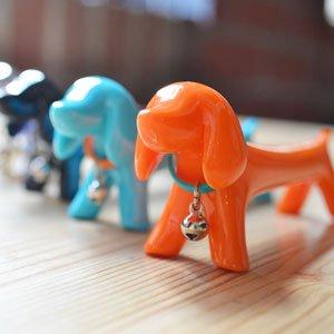 犬のボールペン オレンジ