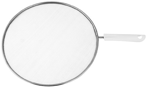 Fackelmann 49304 Arcadalina Couvercle anti-projections Acier Inoxydable/PP Blanc/Argent 29 x 44 cm