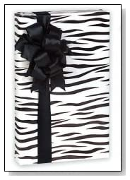 black & White Zebra Striped Gift Wrap