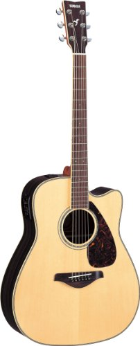 Yamaha FGX730SC Solid Top Acoustic-Electric Guitar - Rosewood, Natural (Yamaha Acoustic Electric Guitar compare prices)
