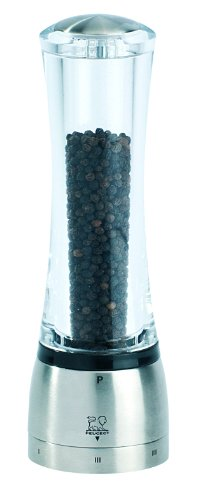 Peugeot 25441 Daman U'Select Shaftless 8.25 Inch Pepper Mill, Stainless Steel