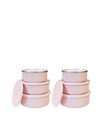Reston Lloyd Set of 6 Bowls with Lids, Pink