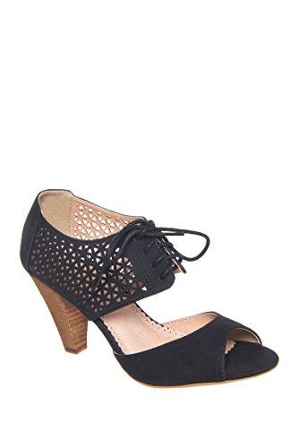 Devin Mid Heel Open Toe Sandal
