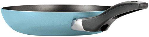 "Farberware Dishwasher Safe Nonstick Twin Pack Skillet Set, 8""/10"", Aqua"
