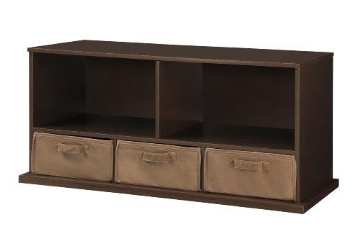 Lowest Price! Badger Basket Shelf Storage Cubby with Three Baskets, Espresso