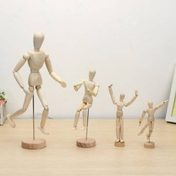 Wooden Jointed Doll Man Figures Model Painting Sketch Cartoon (14 cm) by Completestore