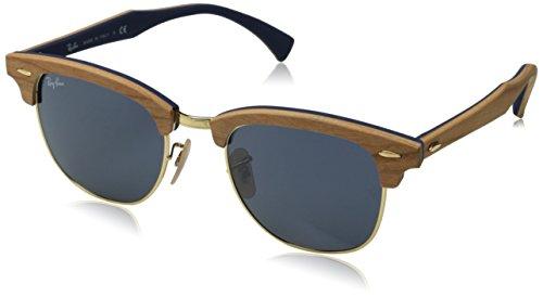 Ray Ban CLUBMASTER WOOD - Gafas De Sol Unisex, color multicolor, talla Medium (Talla fabricante: 51)