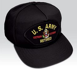 US Army Vietnam Vet Retired Ball Cap