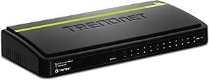 TRENDnet 24-Port Unmanaged 10/100 Mbps Ethernet Desktop Plastic Housing Switch, TE100-S24D