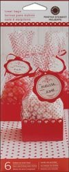 Martha Stewart Mini Cello Bags & Trays 6/Pkg-Valentine; 3 Items/Order