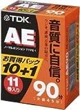 TDK オーディオカセットテープ AE 90分11巻パック [AE-90X11G]