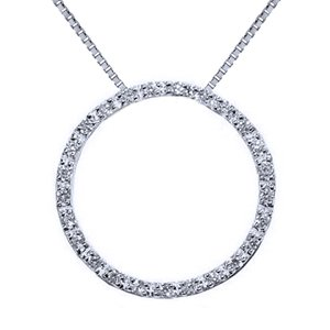 "1 Carat Diamond Sterling Silver Circle of Life Pendant - Necklace 18"" Chain (Suggested Retail Price $499.99)"