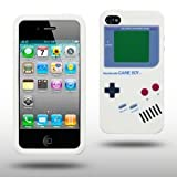 "Iprotect ORIGINAL APPLE IPHONE 4 / 4S GAMEBOY RETRO SILIKONH�LLE MIT KN�PFEN IN WEISS // CASE TASCHE H�LLEvon ""iprotect"""