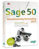 Sage 50 Manufacturing Accounting 2013 5-User