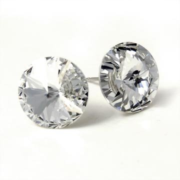 12mm Clear Swarovski Elements Stud Earrings Fashion Jewelry