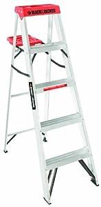 Black+%26+Decker Black & Decker BXL2210-05 5-Feet 225 Pound Duty Rating Aluminum Step Ladder Type II