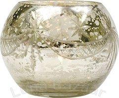 Silver Mercury Glass Votive Candle Holder (globe design)