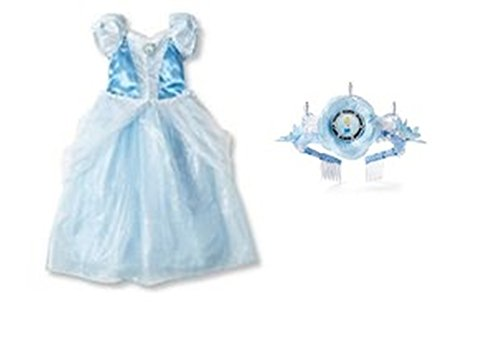 Disney Princess Cinderella Costume/Dress & Tiara Set ~ size XS 4