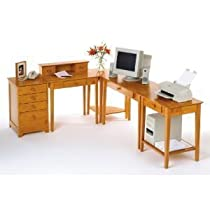 Big Sale Studio Honey Pine Home Office Set - Winsome Wood 99042